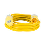 Image for Defender 10M Extension Lead - 16A 2.5mm Cable - Yellow 110V