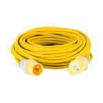 Image for Defender 25M Extension Lead - 16A 2.5mm Cable - Yellow 110V