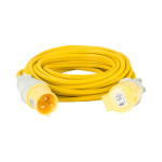 Image for Defender 14M Extension Lead - 32A 4mm Cable - Yellow 110V