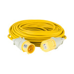 Image for Defender 25M Extension Lead - 32A 4mm Cable - Yellow 110V