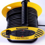 Image for Defender 20M Light Industrial Cable Reel - 13A 4 Way 1.25mm 230V