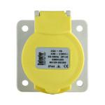 Image for Defender 16A Panel Socket - Yellow 110V