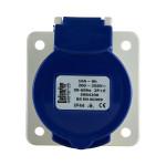 Image for Defender 16A Panel Socket - Blue - Display Packed 230V