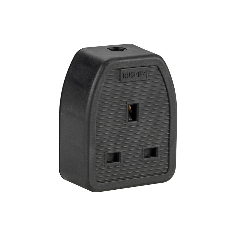 Image for Defender 13A 1 Gang Rubber Socket (Box Of 10) 230V