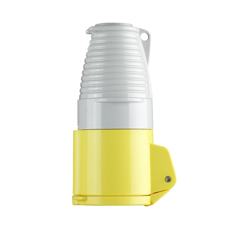 Image for Defender 16A Coupler - Yellow - Display Packed 110V