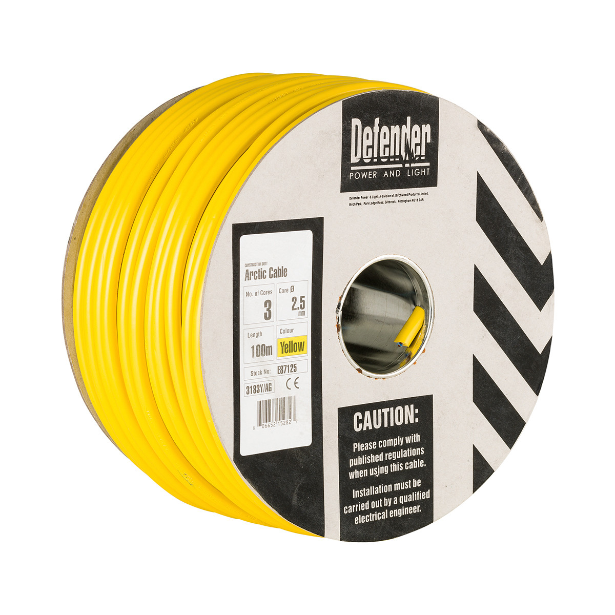 100M 2.5mm 3 Core 110V Cable