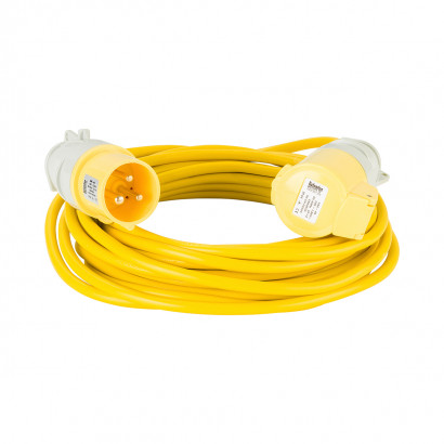Image for Defender 10M Extension Lead - 16A 1.5mm Cable - Yellow 110V