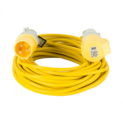 Image for Defender 14M Extension Lead - 16A 2.5mm Cable - Yellow 110V