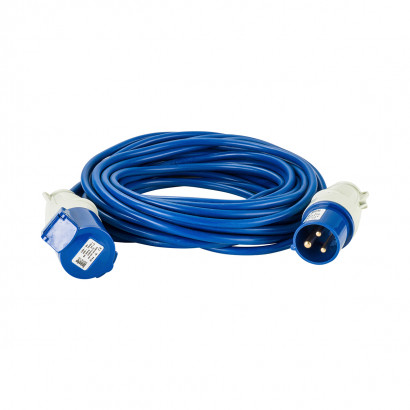 Image for Defender 14M Extension Lead - 16A 1.5mm Cable - Blue 240V