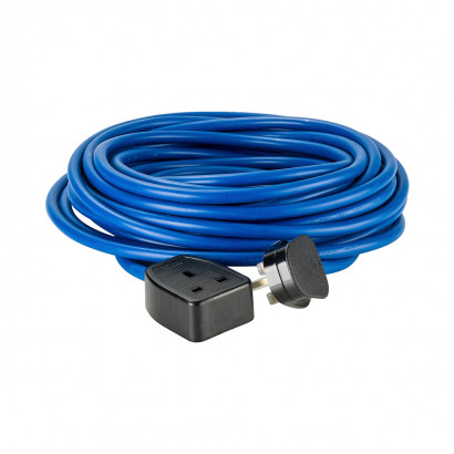 Image for Defender 14M Extension Lead - 13A 2.5mm Cable - Blue 240V