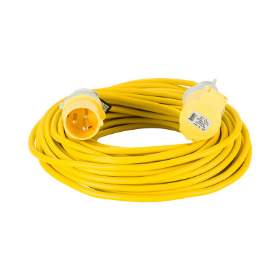 Image for Defender 25M Extension Lead - 16A 1.5mm Cable - Yellow 110V