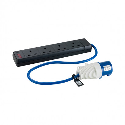 Image for Defender 16-4x 13A Fly Lead - 16A (Plug) 4X13A (Sockets) 230V