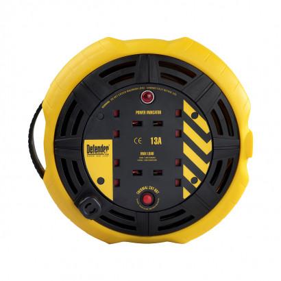 Image for Defender 10M Cassette Reel - 13A 4 Way 1.25mm 230V