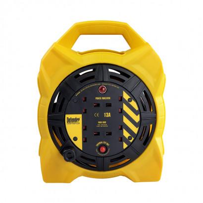 Image for Defender 15M Box Reel - 13A 4 Way 1.25mm 230V