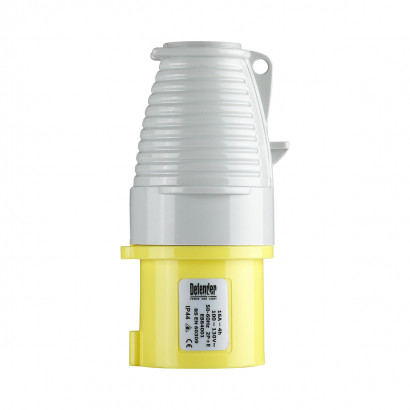 Image for Defender 16A Plug - Yellow - Display Packed 110V