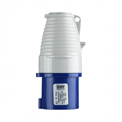 Image for Defender 16A Plug - Blue 230V