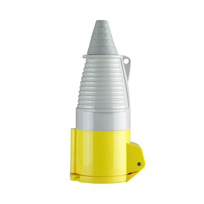 Image for Defender 32A Coupler - Yellow 110V